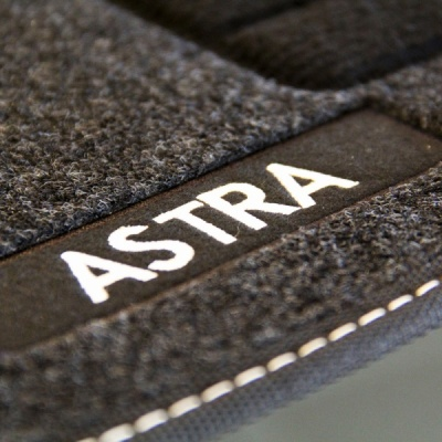 Genuine Vauxhall Astra K Carpet Mats with Heel Pad