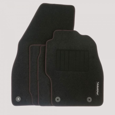 Genuine Vauxhall Adam Mats with Heel Pad and Red Stitching