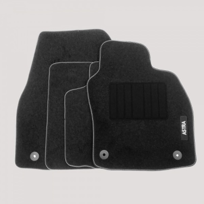 Genuine Vauxhall Astra H Carpet Mats with Heel Pad