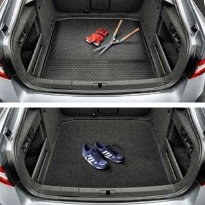 Genuine Skoda Superb Double-Sided Boot Mat