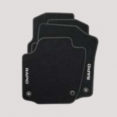 Genuine Skoda Rapid Spaceback Textile Floor Mats Standard 4-Piece Set