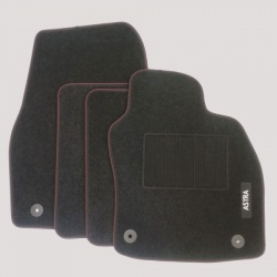 Genuine Vauxhall Astra H Mats with Heel Pad and Red Stitching