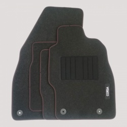 Genuine Vauxhall Corsa D/E Carpet Mats - Red Stitching