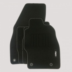 Genuine Vauxhall Corsa D/E Carpet Mats with Heel Pad