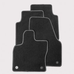 Genuine Skoda Karoq Textile Prestige Mats With Grey Stitching